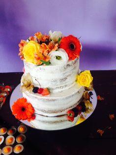 Bolo casamento - nadek cake espatulado com flores