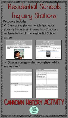Residential Schools Canada, Indian Residential Schools, Teaching Social Studies, Student Teaching, Teaching Tips, Aboriginal Education, Indigenous Education, School Choice, Canadian History