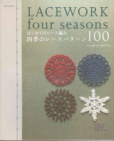 Lacework four seasons 100 Crochet Motif 10-20 cm #crochet pattern books  #afs collection
