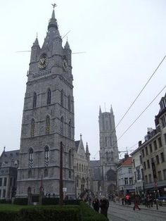 The Belfry Tower, Bruges, Belgium.  I've been up into the carillon here and watched Jos D'Hollander play the bells.  Magical and unforgettable experience!
