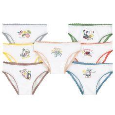 Stella McCartney Girls White Underwear Seven-Pack Gift Box