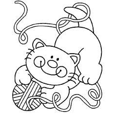 Espaço Educar desenhos para colorir : Desenhos de gatos para colorir, pintar, imprimir