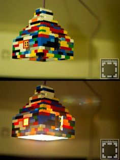 15 Useful Things You Can Build With That Old Lego Stash.. This would be a great idea for a child's bedroom or recreational room.