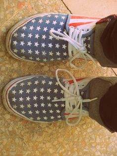 American flag shoes.