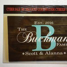 b01682b09516 Custom name signs · Cyber sale thru 11 28 16. Family Wood Signs
