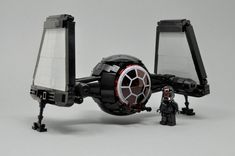 Fancy a smaller TIE-fighter for you daily commute? Take a closer look at the new model by Inthert! Lego Star Wars, Star Wars Holonet, Star Wars Fan Art, Star Wars Ships, Lego Spaceship, Lego Robot, Lego Mecha, Spaceship Design, Star Wars Film