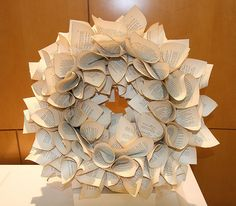 2011 Altered Books Display. Book page wreath