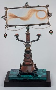 Lucrezia Borgia's hair. Reliquary made in 1920's.