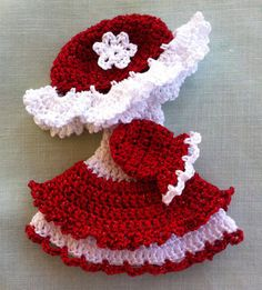 Sunbonnet Sue Baby Hand Crocheted Christmas by TheMarcelWave