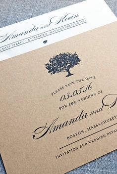 Gorgeous save the date | Cricket Printing