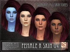 The Sims Resource: R skin 4  Overlay by RemusSirion • Sims 4 Downloads