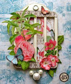 Graphic 45 Botanical Tea Tag Album by Maria Cole.