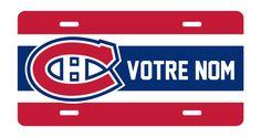 Personnalized Canadiens Montréal License Plate by ChezGeeks, $15.00