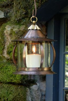 The San Simeon Lantern from H Potter. Inclement weather isn't the only reason to light up this lamp, bringing any area to life with it's warm glow. Hanging Candle Lanterns, Outdoor Hanging Lanterns, Lantern Lamp, Lantern Candle Holders, Outdoor Ceiling Fans, Candle Sconces, Outdoor Lighting, Outdoor Decor, Copper Lantern