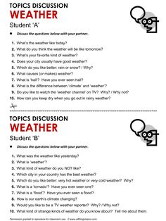 Weather, English, Learning English, Vocabulary, ESL, English Phrases…