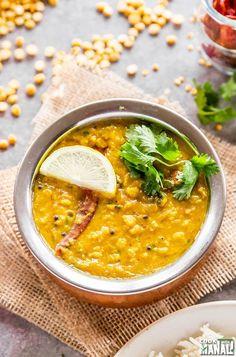 Instant Pot Chana Dal Vegan Dinner Recipes, Vegan Dinners, Indian Food Recipes, Vegetarian Recipes, Cooking Recipes, Ethnic Recipes, Lentil Recipes, Savoury Recipes, Fish Recipes