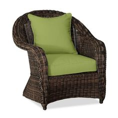Pottery Barn Torrey Roll-Arm Occasional Chair Cushion Slipcover (3 495 UAH) ❤ liked on Polyvore featuring home, outdoors, patio furniture, green, green patio furniture, pottery barn, pottery barn patio furniture, outdoor patio furniture and woven outdoor furniture