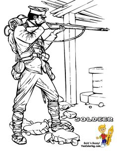 World War I Allied Soldier Army Coloring Page  at YesColoring. This is a popular soldier coloring page.