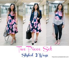 See how a two piece dress can be styled 3 ways!