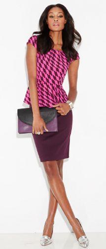 The 7th Avenue Pencil Skirt in precious plum.