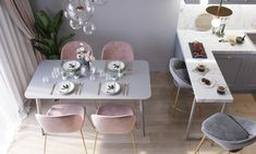 One of the hottest trends in home decor these days is the upsurge in popularity of modern dining room chairs. Pink Dining Rooms, Luxury Dining Room, Dining Room Design, Dining Room Chairs, Casa Magna, Küchen Design, Interior Design, Sweet Home, French Country Living Room