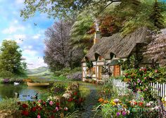 Countryside Cottage Digital Art by Dominic Davison