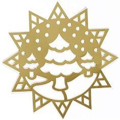 Framed Fir Tree Stencil: Arts, Crafts  Sewing
