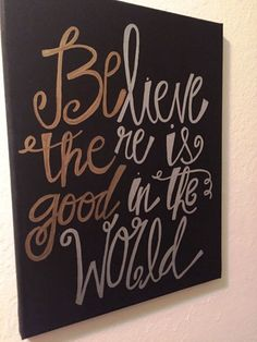 Be The Good Canvas Print by MadeByTaylar on Etsy
