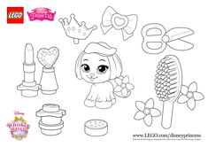More fun with LEGO Disney Whisker Haven Palace Pets, starring super cuty Daisy! Print the sheet and start colouring in! More fun activities on LEGO.com/disneyprincess #LEGO #Disney #PalacePets
