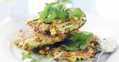 Create a stash of delicious lunch box bites with these freezer-friendly recipes featuring the much-loved freezable zucchini slice, oaty apply muffins, corn fritters, and cheesy pizza scrolls. Zucchini Corn Fritters, Corn Fritter Recipes, Sweet Chilli Sauce, Chilli Jam, Cooking Recipes, Healthy Recipes, Healthy Food, Zucchini Cake, Light Recipes