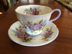 ROYAL ALBERT Cup & Saucer LILAC Blossom Time Series England