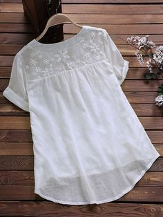 Newchic - Fashion Chic Clothes Online, Discover The Latest Fashion Trends Mobile Blouse Styles, Blouse Designs, Simple Kurta Designs, Kids Frocks, Looks Plus Size, Blouse Vintage, Chic Outfits, Little Girl Dresses, Colorful Fashion