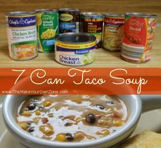 7 Can Taco Soup Recipe