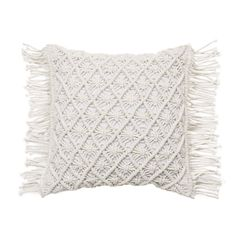 The Macrame cushion features intricate macrame detailing across its casing. Macrame weaving is both on trend and adds a homely vibe to your space.