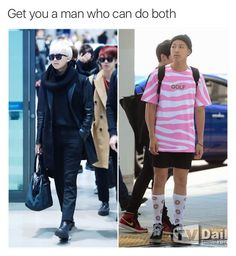 Lol Rap Monster, but I can't help but notice the handsome JIn in the background in the first pic!