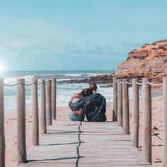 travel couple explore beach love vibes