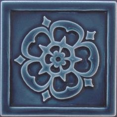"Arts and Crafts tiles. ""Rose"" Carreaux Du Nord"