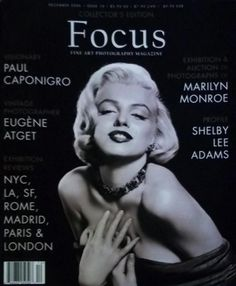Focus - December 2006, magazine from USA. Front cover photograph of Marilyn Monroe by Frank Powolny, 1953