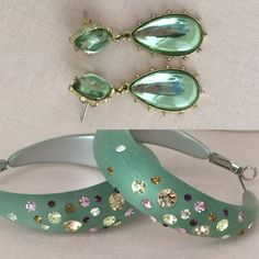 BOGO earrings! Buy one get one free mint green earrings! Perfect for Spring. Both pairs are in excellent condition with no signs of wear.  From a clean, pet-free, smoke-free home. Jewelry Earrings