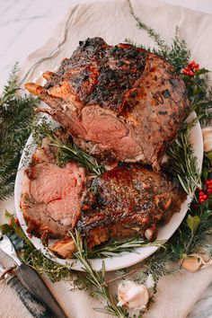 Herb roasted prime rib recipe silver ultimate slow cooker pot roast dinner perfect prime rib roast recipe and prime rib recipe dinner recipes lgcm best. Rib Recipes, Roast Recipes, Cooking Recipes, Recipies, Bbq Recipes For A Crowd, Meat For A Crowd, Dishes Recipes, Healthy Recipes, Carne Asada