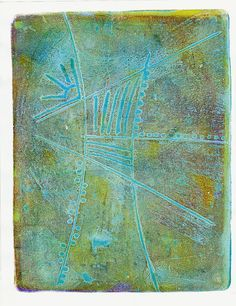 Gelli Printing with foam core stamp intaglio