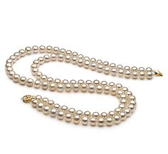 MeiraHalskette - Weiß AA 7-8mm Süßwasser Pearl Necklace, Pearls, Jewelry, Fashion, Beaded Necklaces, String Of Pearls, Moda, Jewlery, Jewerly
