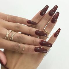 Chocolate colored nails✨|| To see more follow @Kiki&Slim