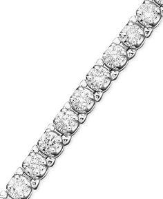 Certified Diamond Bracelet in (3-5/8 ct. t.w.) 14k White Gold - Bracelets - Jewelry & Watches - Macy's