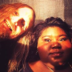 American Horror Story: Coven BTS goofing around with Denis O'Hare & Gabourey Sidibe
