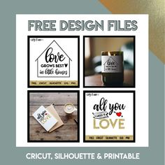 Free Design Files for Cricut, Silhouette and Printables-- cute designs to spice up candles and other decor Bullet Journal Key, Bullet Journal Layout, Bullet Journals, Diy Pouf, Rustic Sideboard, Ignorant, Trendy Home Decor, Love Is Free, Do It Yourself Home