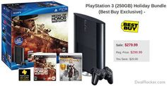 BestBuy Exclusive Deal: $20 Off PlayStation 3 250GB Holiday Bundle! | Coupons & Deals Blog ☺  ☺