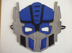 Felt Optimus Prime Transformers Mask, fancy dress/costume/dressing up