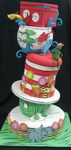 Awesome Grinch themed cake.