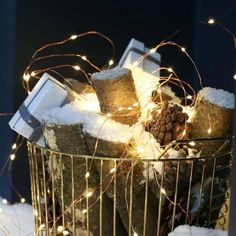 These multi strand, indoor copper wire lights can be used in a number of ways and will keep your decor on trend. So versatile, the wire can be twisted, turned and manipulated any way you choose. Wire Fairy Lights, Copper Wire Lights, Christmas Lights, Christmas Time, Indoor Waterfall, Soft And Gentle, One Light, Plugs, Celebrations